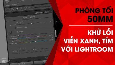 Phòng tối 50mm - Tập 13 (Lightroom): Khử lỗi viền xanh, viền tím | 50mm Vietnam