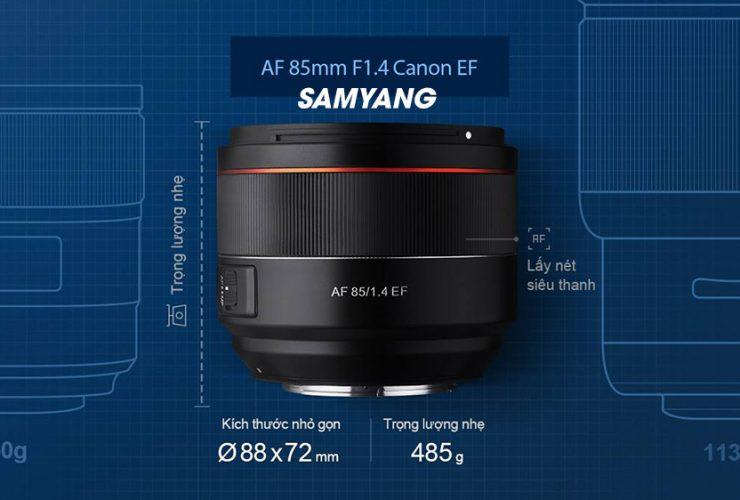 Samyang ra mắt ống kính 85mm f/1.4 EF tự động lấy nét cho Canon | 50mm Vietnam