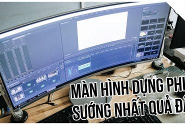 MÀN HÌNH CONG đỉnh cao cho dân DỰNG PHIM - Samsung LC34J791   50mm Vietnam
