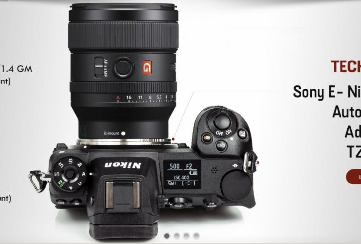 Techart TZE-01: ngàm chuyển từ ống kính Sony E sang Nikon Z | 50mm Vietnam
