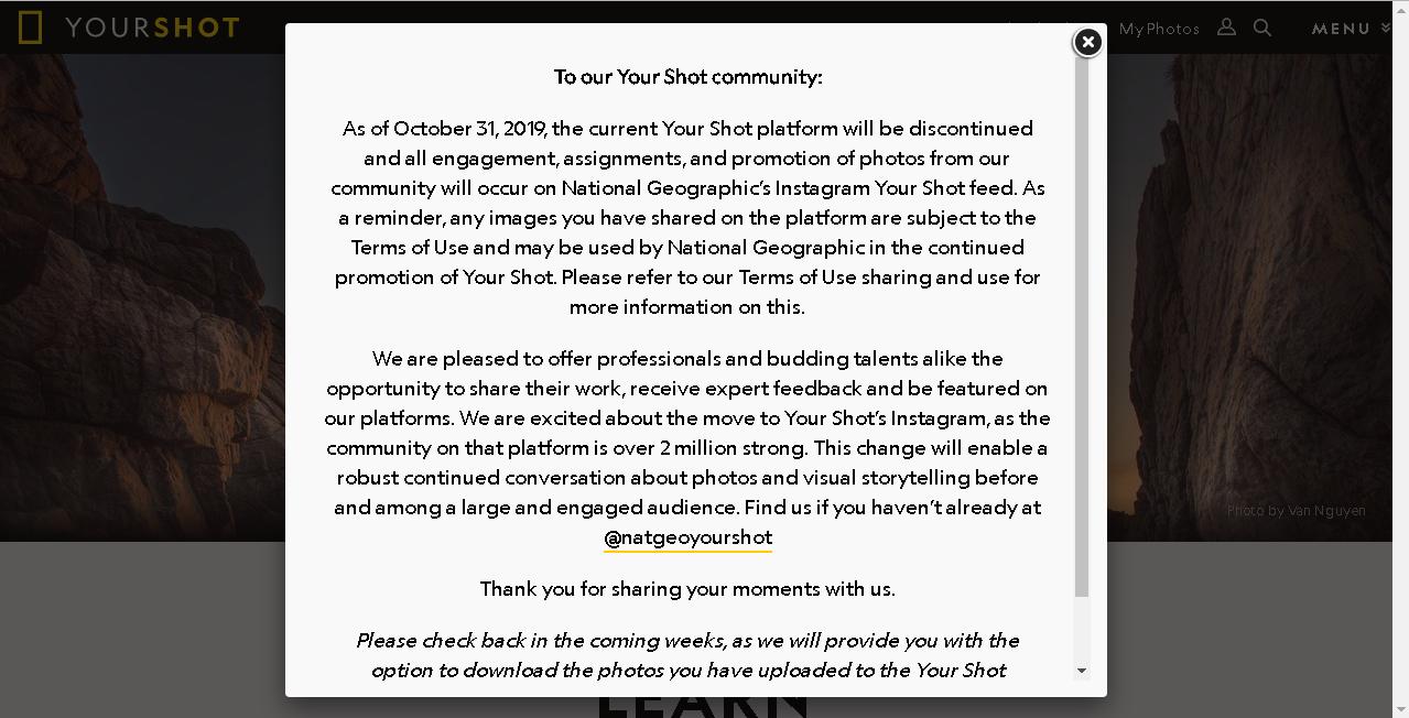 Disney sẽ đóng cửa trang web chia sẻ ảnh Your Shot của National Geographic vào 31/10/2019 | 50mm Vietnam