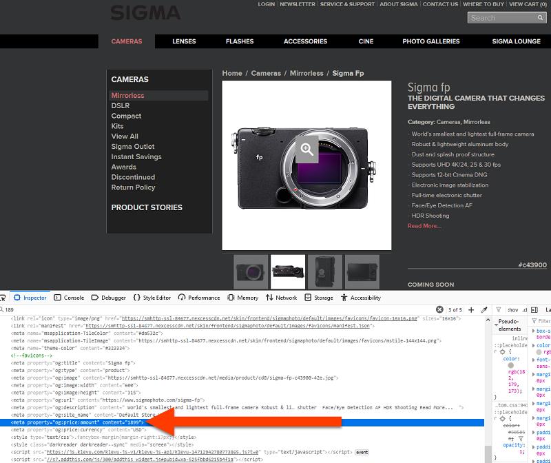 Giá niêm yết máy ảnh Sigma fp bất ngờ rò rỉ trên mạng: 1900$ | 50mm Vietnam