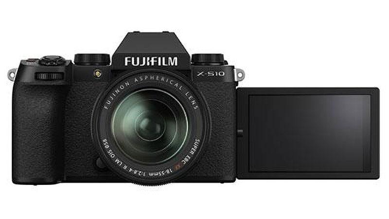 Fujifilm X-S10 khi lật màn hình ra ngoài