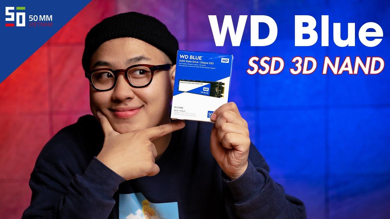 Ổ cứng SSD siêu bền cho dân chụp ảnh - WD Blue SSD 3D NAND   50mm Vietnam